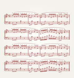 music note sheet vector image