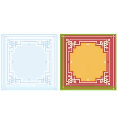Napkin design pattern vector