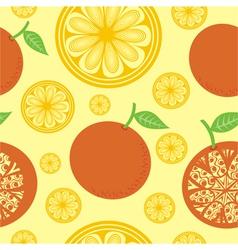 Orange seamless pattern background vector image