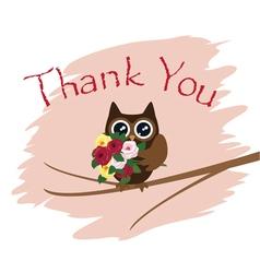 Owl thanks vector