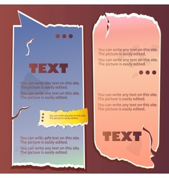 paper bubble for speech vintage vector image
