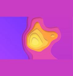 purple yellow gradient paper cut design vector image