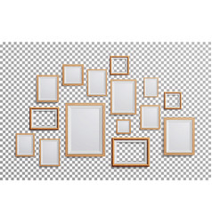 Realistic photo frame set square a3 a4 vector