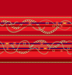 red trendy pattern vector image