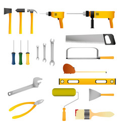 Repair and construction tools set vector
