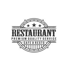 Restaurant logo - food drink product vector