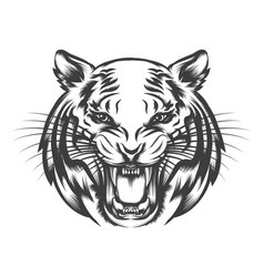 Roaring tiger face vector