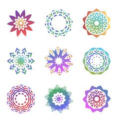 Set of minimalistic trendy shapes creative logo vector