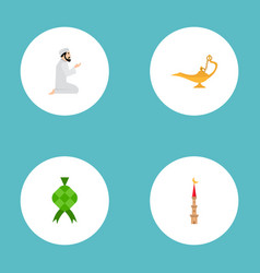 set of religion icons flat style symbols with vector image
