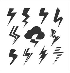 Set symbols lightning vector