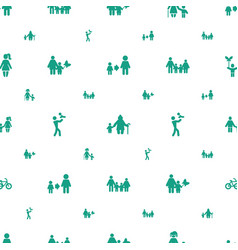 son icons pattern seamless white background vector image