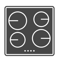 Stove icon solid gray vector