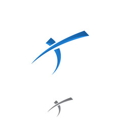t letter vector image