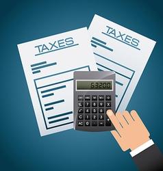 Taxes concept vector