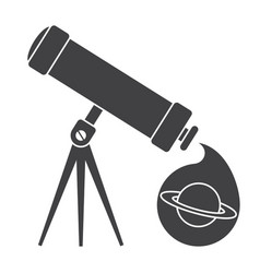 telescope for astronomy vector image
