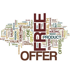 The power of a free offer text background word vector