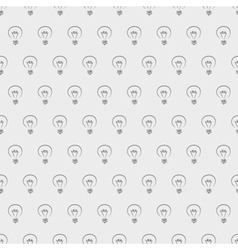 Tile light bulbs grey pattern or wallpaper vector image