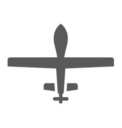 unmanned aerial glyph icon military and vehicle vector image