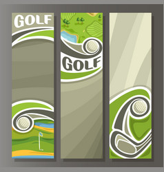 vertical banners for golf course vector image