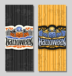 vertical banners for halloween holiday vector image