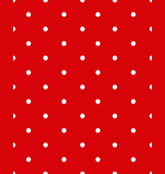 white dots on a red background vector image