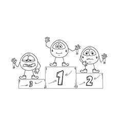 Winning podium vector
