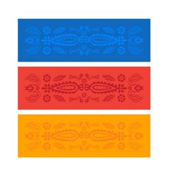 Yoga mat design georgian traditional ornaments vector