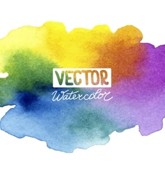 Absctract background with watercolor splash vector