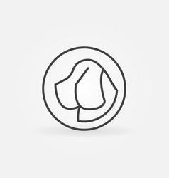dog head in circle icon vector image vector image