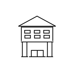 library icon vector image
