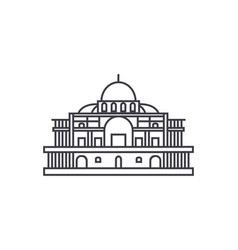 mexico cathedral line icon sign vector image vector image