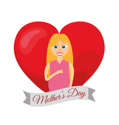mothers day card mom pregnancy vector image