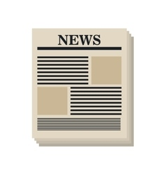 newspaper isolated design vector image
