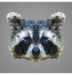 Raccoon low poly portrait vector image vector image