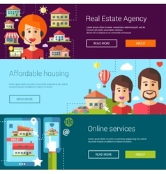 Set of real estate flat modern vector image