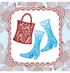 Bag nd boot vector image vector image