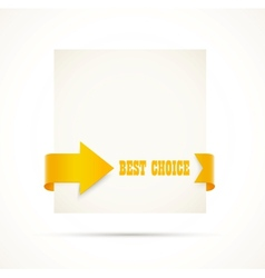 Card with arrow vector image vector image