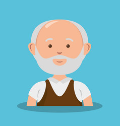 grandfather avatar character icon vector image