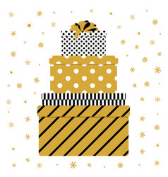 pile of colorful gift box vector image vector image