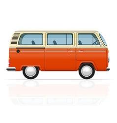 retro minivan 01 vector image vector image