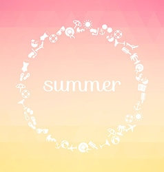 Summer background with text vector image vector image