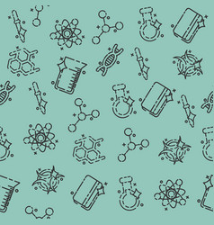 chemical industry concept icons pattern vector image vector image