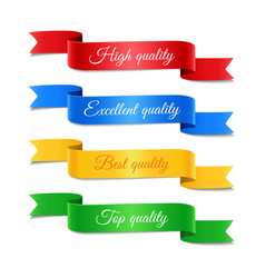 decorative arrow ribbons with text set vector image