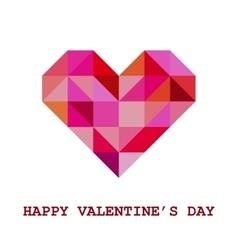 Geometric Valentine Greeting Card vector image