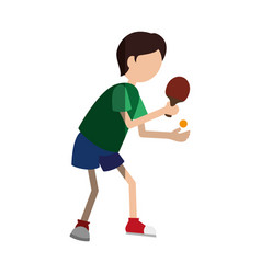 ping pong player avatar vector image