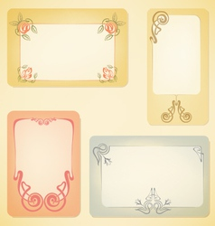 set of art nouveau labels vector image