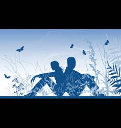 two lovers vector image vector image