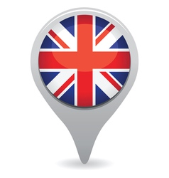 Uk flag pointer vector