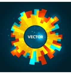 Abstract round glowing banner colorful vector image vector image