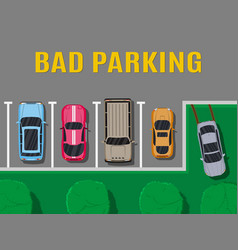 bad or wrong car parking vector image vector image